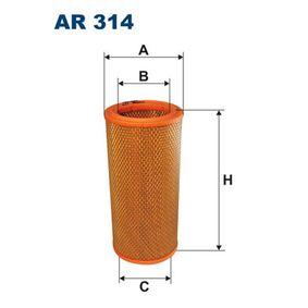 Luftfilter Höhe: 242mm mit OEM-Nummer 1444.F1
