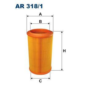 Luftfilter Höhe: 257mm mit OEM-Nummer 7786626