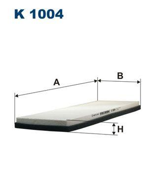 FILTRON  K 1004 Filter, Innenraumluft Länge: 390mm, Breite: 150mm, Höhe: 25mm