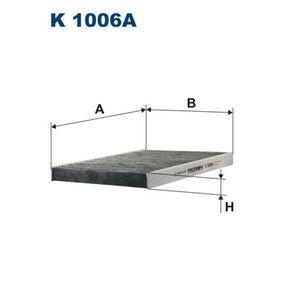 Filter, Innenraumluft Länge: 280mm, Breite: 205mm, Höhe: 25mm mit OEM-Nummer 1HO 091 800