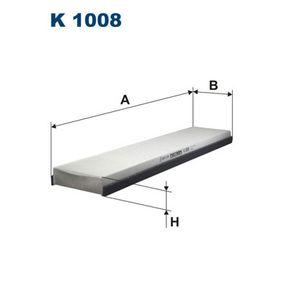 Filter, Innenraumluft Länge: 509mm, Breite: 110mm, Höhe: 30mm mit OEM-Nummer 3 401 703
