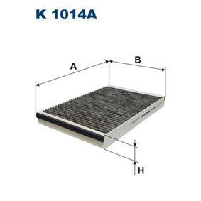 Filter, Innenraumluft Länge: 300mm, Breite: 198mm, Höhe: 30mm mit OEM-Nummer 91 21 627