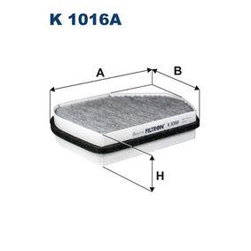 Filter, Innenraumluft Länge: 258,5mm, Breite: 202,5mm, Höhe: 54mm mit OEM-Nummer 210 830 0818