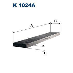 Filter, Innenraumluft Länge: 536mm, Breite: 110mm, Höhe: 25mm mit OEM-Nummer 95 VW 19 N551 AA