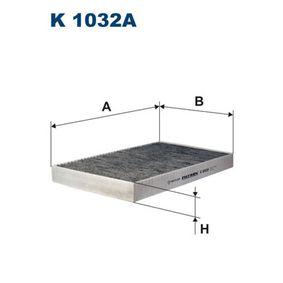 Filter, Innenraumluft Länge: 306mm, Breite: 192mm, Höhe: 30mm mit OEM-Nummer 4B0819439