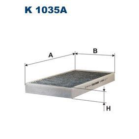 Filter, Innenraumluft Länge: 290mm, Breite: 159mm, Höhe: 30mm mit OEM-Nummer 6065 3641