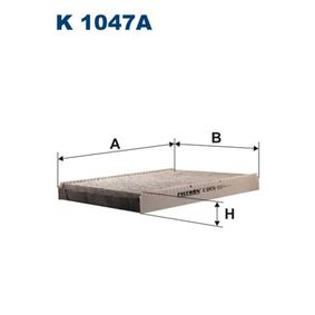 Filter, Innenraumluft Länge: 283mm, Breite: 206mm, Höhe: 30mm mit OEM-Nummer 1J0 819 644A