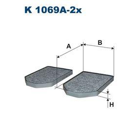 FILTRON  K 1069A-2x Filter, Innenraumluft Länge: 280mm, Breite: 200mm, Höhe: 27mm