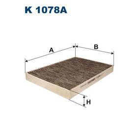 Filter, Innenraumluft Länge: 299mm, Breite: 205mm, Höhe: 30mm mit OEM-Nummer 8E0819439C