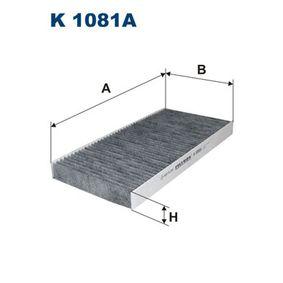 Filter, Innenraumluft Länge: 328mm, Breite: 164mm, Höhe: 30mm mit OEM-Nummer 5 180 5219