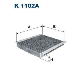Filter, Innenraumluft Länge: 255mm, Breite: 200mm, Höhe: 30mm mit OEM-Nummer 6447.LN