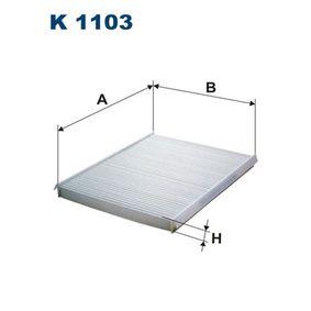 Filter, Innenraumluft Länge: 230mm, Breite: 180mm, Höhe: 21mm mit OEM-Nummer 4672 3435