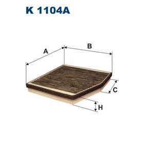 Filter, Innenraumluft Länge: 236mm, Breite: 216mm, Höhe: 30mm mit OEM-Nummer 4 677 0834