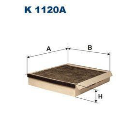 Filter, Innenraumluft Länge: 235mm, Breite: 205mm, Höhe: 40mm mit OEM-Nummer 668 099 03