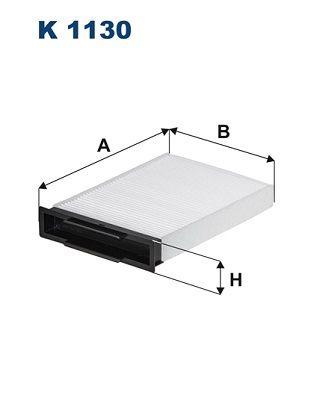 FILTRON  K 1130 Filter, Innenraumluft Länge: 247mm, Breite: 180,5mm, Höhe: 42mm