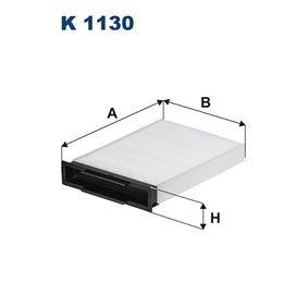Filter, Innenraumluft Länge: 247mm, Breite: 180,5mm, Höhe: 42mm mit OEM-Nummer 77 01 055 109