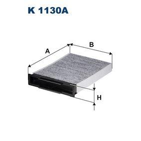 Filter, Innenraumluft Länge: 248mm, Breite: 180,5mm, Höhe: 42mm mit OEM-Nummer 7701064235