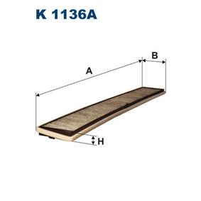 Filter, Innenraumluft Länge: 670mm, Breite: 94,5mm, Höhe: 24mm mit OEM-Nummer 64319257504