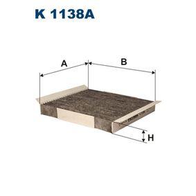 Filter, Innenraumluft Länge: 209mm, Breite: 240mm, Höhe: 30mm mit OEM-Nummer 1808 527