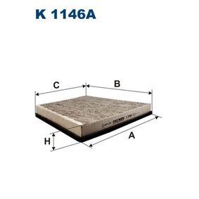 Filter, Innenraumluft Länge: 316mm, Breite: 266mm, Höhe: 34mm mit OEM-Nummer A2118300018