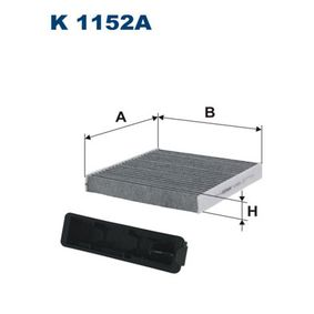 Filter, interior air Length: 183mm, Width: 181mm, Height: 25mm with OEM Number 7711426872