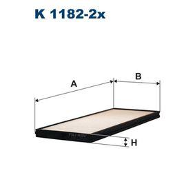 Filtro, aire habitáculo K 1182-2x GETZ (TB) 1.5 CRDi ac 2006