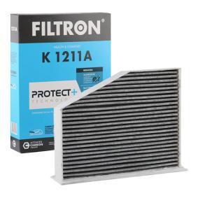 Filter, Innenraumluft Länge: 211mm, Breite: 288mm, Höhe: 57mm mit OEM-Nummer 1K2819669