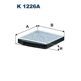 Filter, Innenraumluft Länge: 278mm, Breite: 250mm, Höhe: 38mm mit OEM-Nummer 30630755