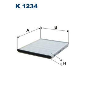 Filtro, aire habitáculo K 1234 Aveo / Kalos Hatchback (T250, T255) 1.4 ac 2021