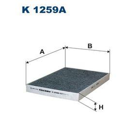 Filter, Innenraumluft Länge: 310mm, Breite: 213mm, Höhe: 30mm mit OEM-Nummer 04596 501AC