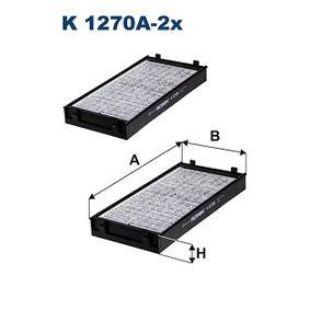 Filter, Innenraumluft Länge: 292mm, Breite: 145mm, Höhe: 34mm mit OEM-Nummer 64316945586
