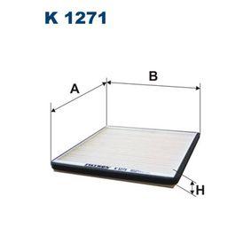 FILTRON  K 1271 Filter, Innenraumluft Länge: 203mm, Breite: 191mm, Höhe: 17mm