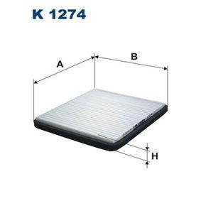 FILTRON  K 1274 Filter, Innenraumluft Länge: 215mm, Breite: 200mm, Höhe: 20mm
