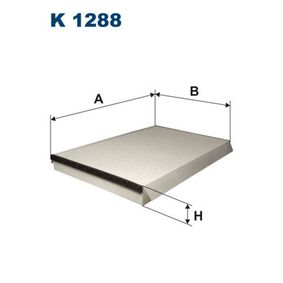 FILTRON  K 1288 Filter, Innenraumluft Länge: 362mm, Breite: 234mm, Höhe: 35mm