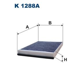 Filter, Innenraumluft Länge: 362mm, Breite: 234mm, Höhe: 35mm mit OEM-Nummer 6801 2876AA