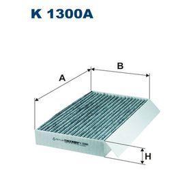 Filter, Innenraumluft K 1300A MEGANE 3 Coupe (DZ0/1) 2.0 R.S. Bj 2014