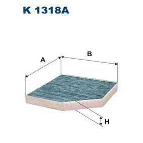 Filter, Innenraumluft Länge: 255mm, Breite: 250mm, Höhe: 35mm mit OEM-Nummer 4H0 819 439