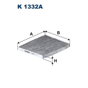 Filter, Innenraumluft Länge: 237mm, Breite: 196mm, Höhe: 20mm mit OEM-Nummer 971332E260AT