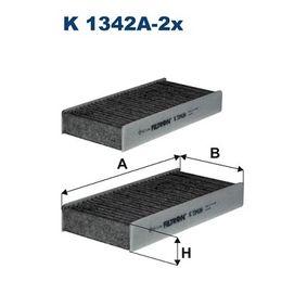 FILTRON  K 1342A-2x Filter, Innenraumluft Länge: 233mm, Breite: 115mm, Höhe: 33mm