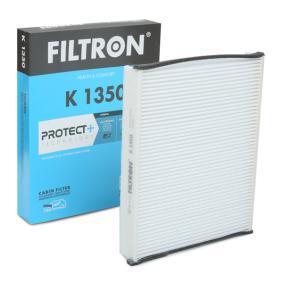 FILTRON  K 1350 Filter, Innenraumluft Länge: 259mm, Breite: 202mm, Höhe: 35mm