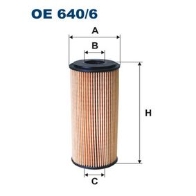 Ölfilter Ø: 52mm, Innendurchmesser 2: 21mm, Höhe: 116mm mit OEM-Nummer A640 180 00 09