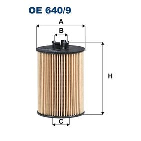 Ölfilter Ø: 57mm, Innendurchmesser 2: 21mm, Innendurchmesser 2: 27mm, Höhe: 94mm mit OEM-Nummer 266 184 03 25