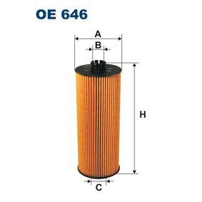 FILTRON  OE 646 Ölfilter Ø: 83mm, Innendurchmesser 2: 28mm, Innendurchmesser 2: 39,5mm, Höhe: 214mm