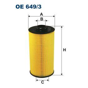 Ölfilter Innendurchmesser 2: 24,5mm, Innendurchmesser 2: 39,5mm, Höhe: 161mm mit OEM-Nummer 11427510717
