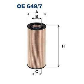 Ölfilter Ø: 65mm, Innendurchmesser 2: 31,5mm, Höhe: 154,5mm mit OEM-Nummer 11 42 7 787 697
