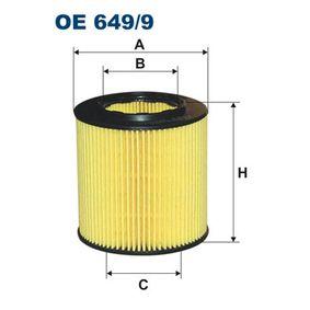Ölfilter Innendurchmesser 2: 41,5mm, Innendurchmesser 2: 41,5mm, Höhe: 79mm mit OEM-Nummer 11427953129