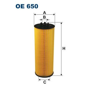 Ölfilter Innendurchmesser 2: 13,5mm, Innendurchmesser 2: 34,5mm, Höhe: 199mm mit OEM-Nummer 059 115 562