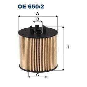 Ölfilter Innendurchmesser 2: 28mm, Innendurchmesser 2: 33mm, Höhe: 76mm mit OEM-Nummer 03C 115 577 A