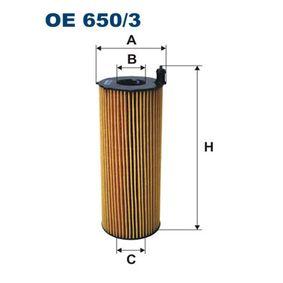 Ölfilter Ø: 76mm, Innendurchmesser 2: 29mm, Innendurchmesser 2: 29mm, Höhe: 200mm mit OEM-Nummer 057115561 L