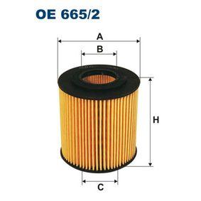 FILTRON  OE 665/2 Ölfilter Ø: 68mm, Innendurchmesser 2: 29mm, Höhe: 74,5mm